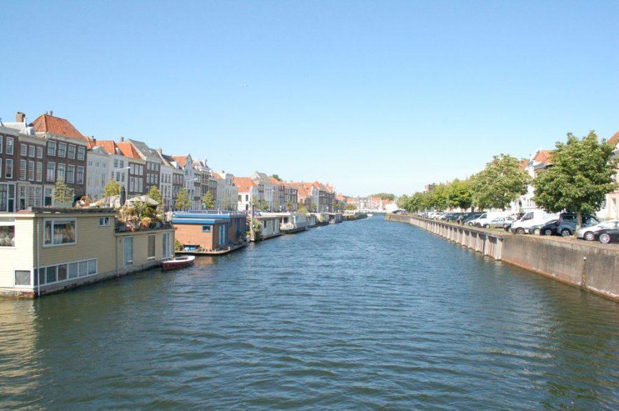 uitzicht gracht en kades Middelburg