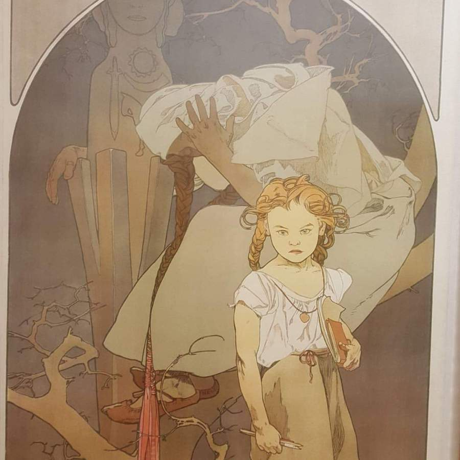 Painting in the Mucha Museum