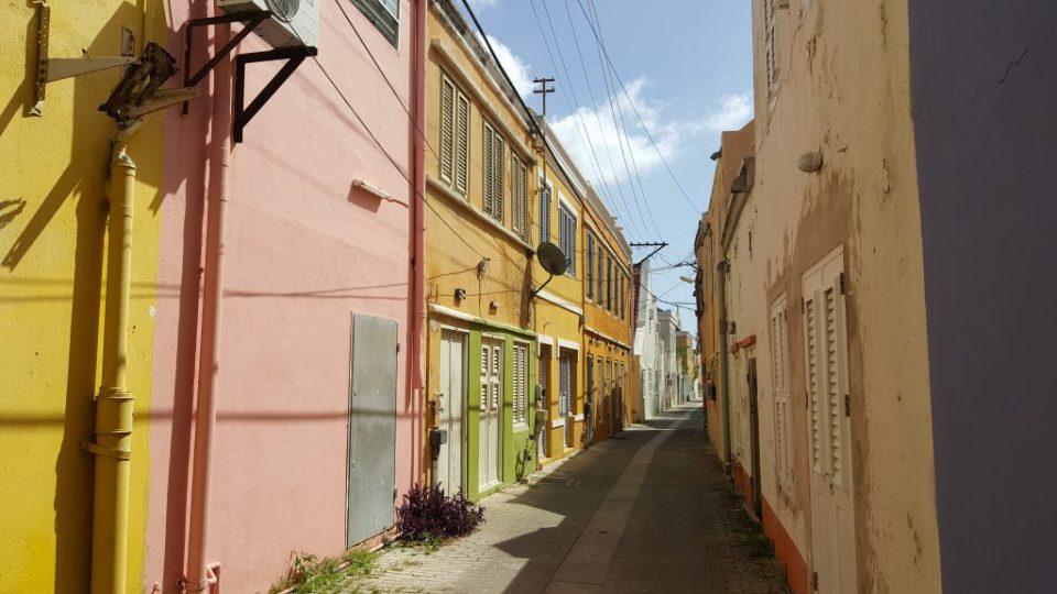 colorful street Otrabanda Willemstad