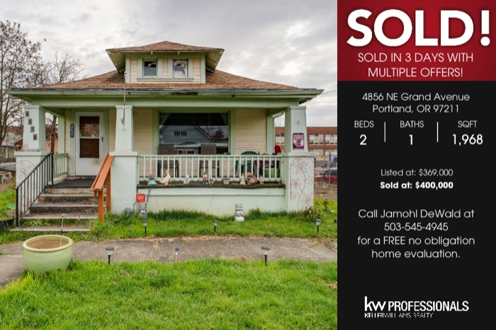 JDPDXRealEstate JUST SOLD