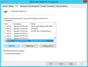 Update Printer Driver IP Address (Windows)
