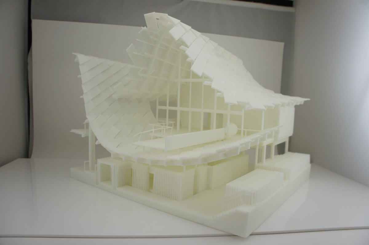 3D Printed architecture fancy house pavallion