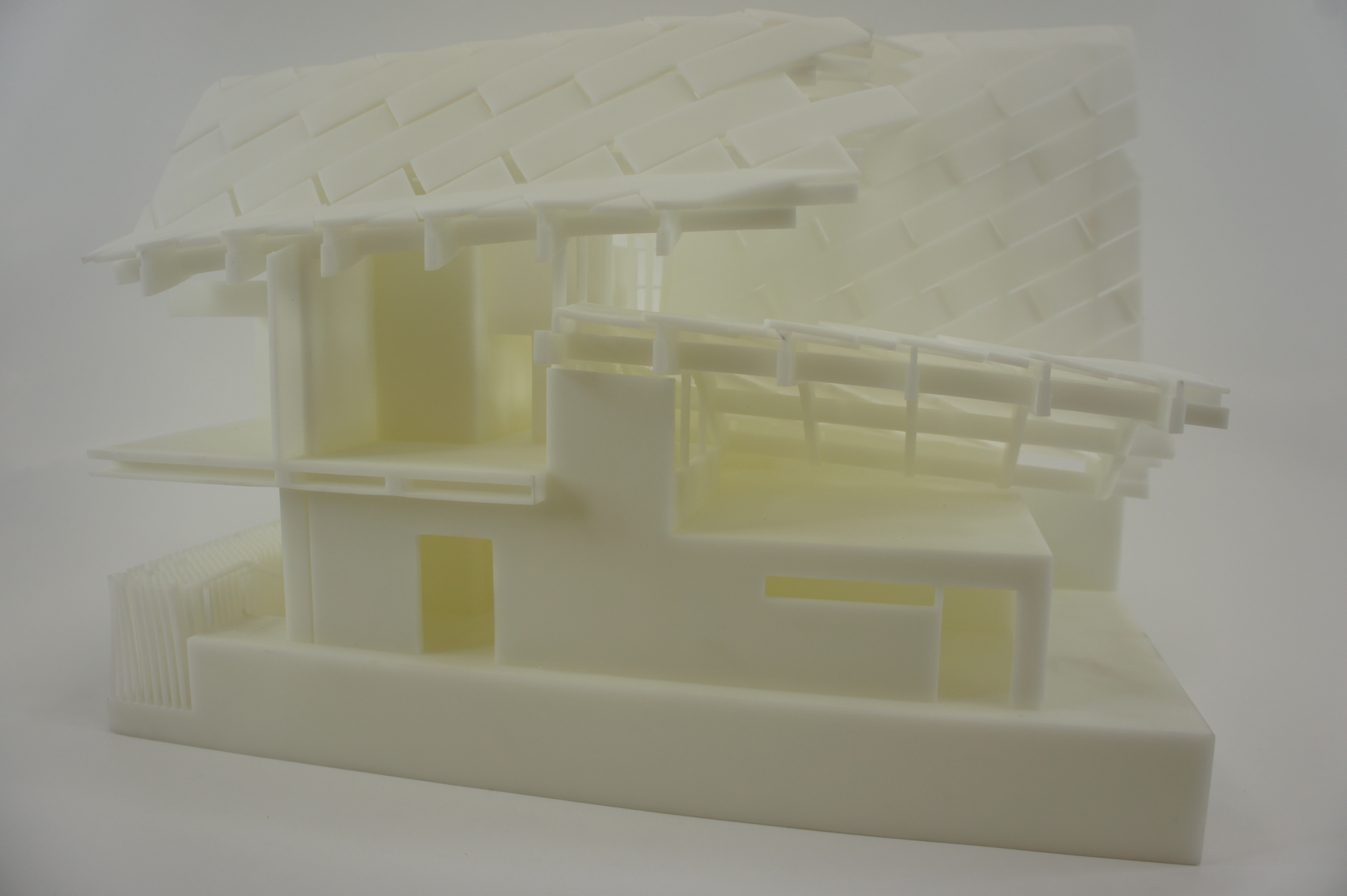 China house split print 3D printing
