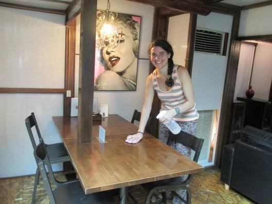 Esta es Ayelén, la argentina que estuvo en el hostal al principio de mi estancia.