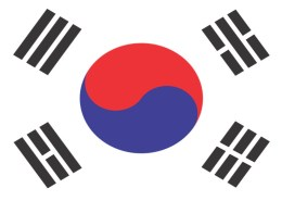 The picture highlights the South Korean flag to represent the strongest stock in the world that is currently a Korean stock.