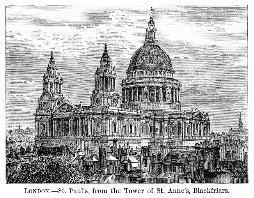 Work starts, St Paul's Cathedral