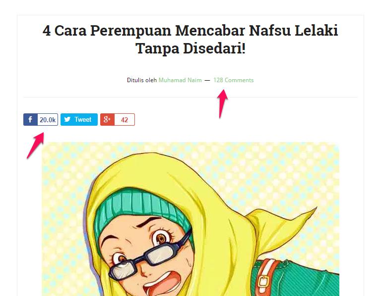 tajuk menarik sebelum publish artikel