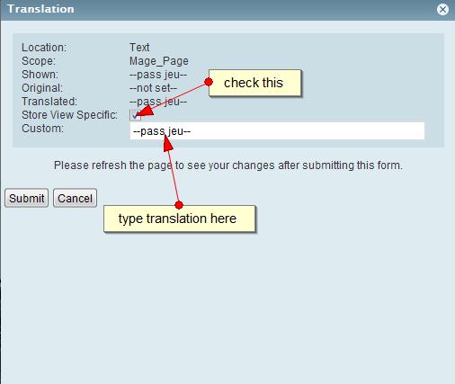 Inline translation step 2