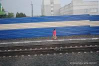 Wenn schon mal Schienen da sind, warum dann nicht als Weg nutzen?