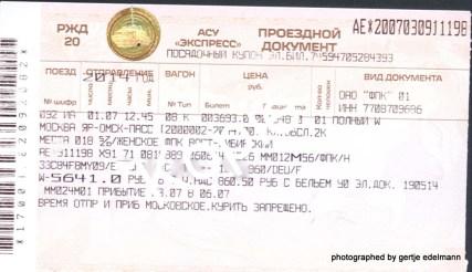 Ticket Moskau-Omsk