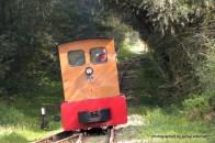 In den Schönaer Lachen wird die Lok abgekoppelt und einfach an die andere Seite des Zuges gehängt. Für Prinzessinnen seeeehr spannend