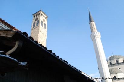 Gazi Husrev Beg Moschee und Uhrenturm