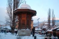 Wer sich verabredet in Sarajevo, trifft sich am Sebilj