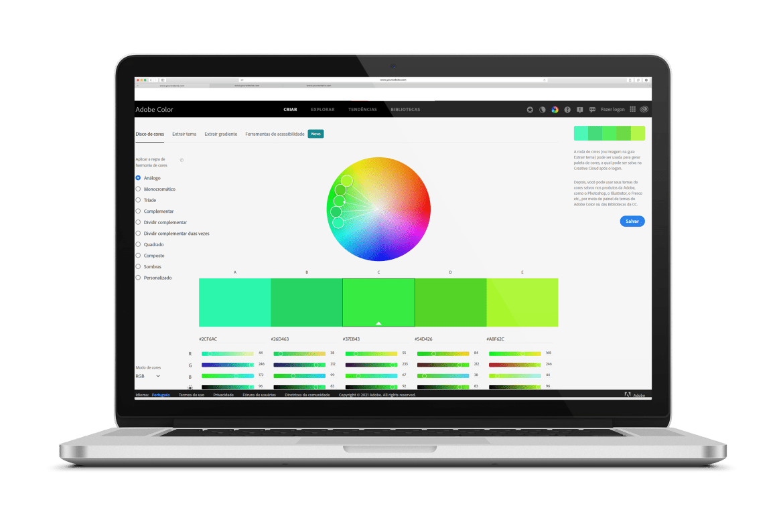 Adobe Color: site permite criar, combinar e buscar paletas de cores