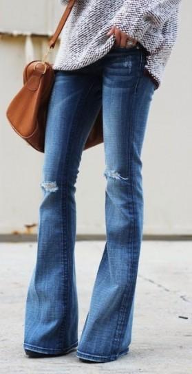 maglione-e-flared-jeans