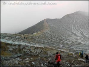 Ijen Crater Area - This is from where we have to walk down..