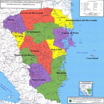 350_Region_Autonoma_Atlantico_Sur_Administrative_Political_Map_Nicaragua_2edlabrs