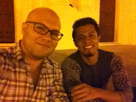 Eric and Juan, pre-SummerFest