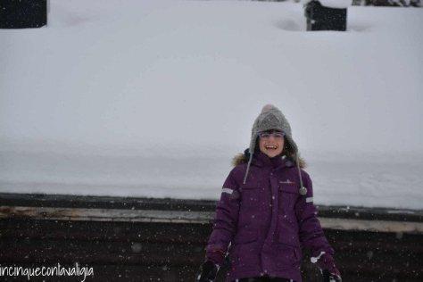 Il vero Babbo Natale in Lapponia la neve