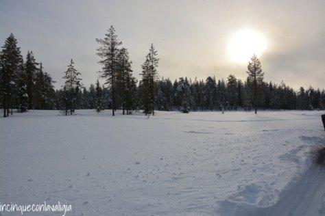 Il vero Babbo Natale in Lapponia il paesaggio