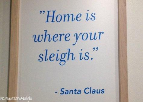 Il vero Babbo Natale in Lapponia aeroporto di Babbo Natale