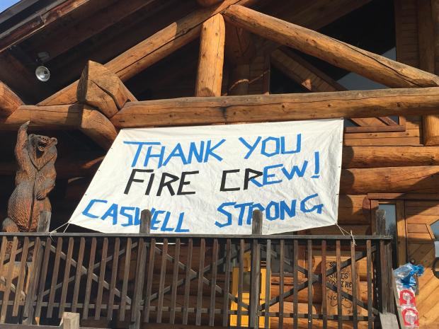 One of the many thank you signs on the McKinley fire.
