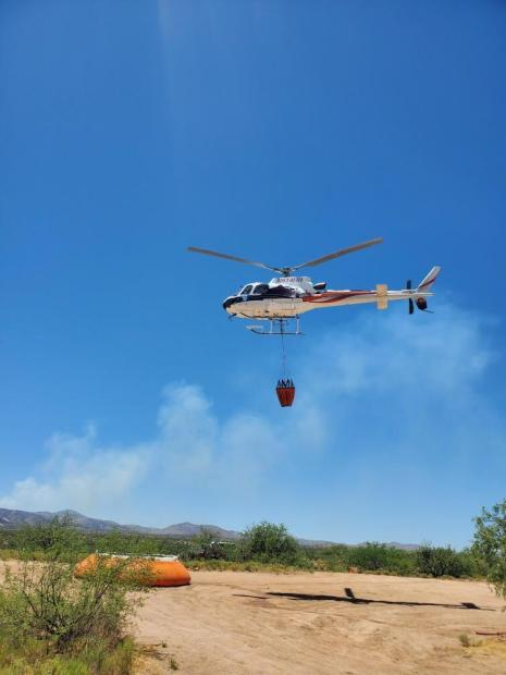 Helicopter working on Tortolita Fire