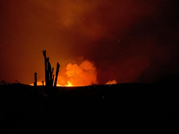 The Central Fire as seen on the evening of June 20, 2020.