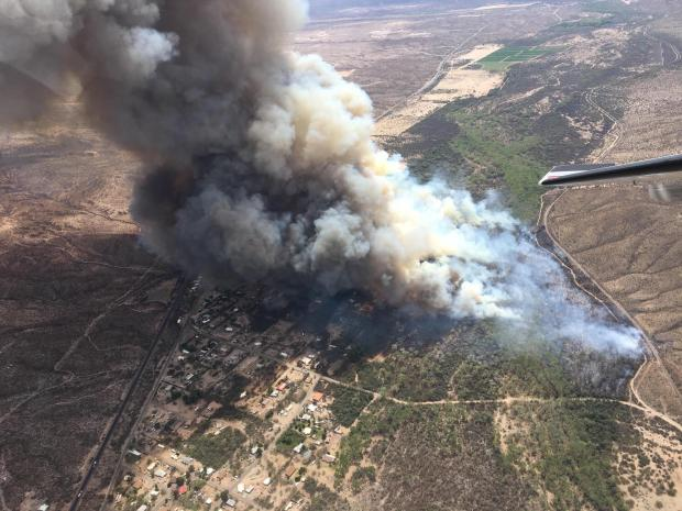 Air Attack Photo of Margo Fire in Dudleyville