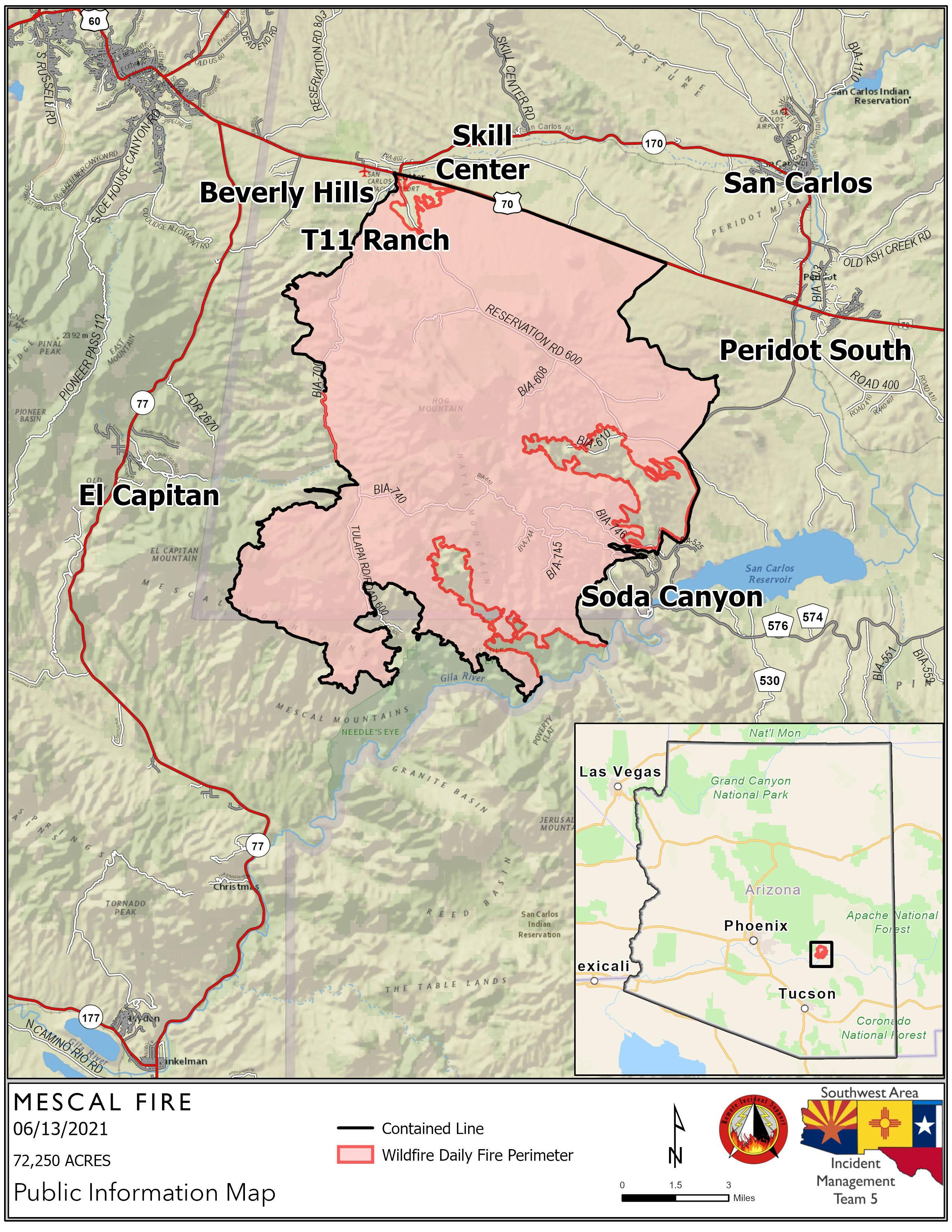 Residents in wildfire areas should follow the evacuation instructions of law enforcement agencies and fire managers. Mescal Fire Information Inciweb The Incident Information System