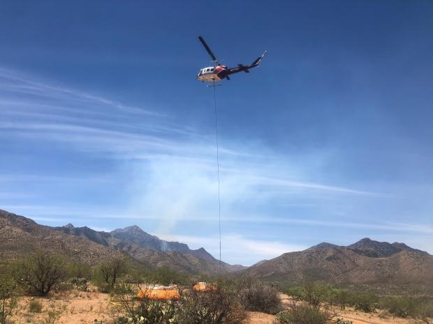 Helicopter at Dip Site
