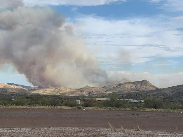 Smoke from the Telegraph could be seen from SR 177