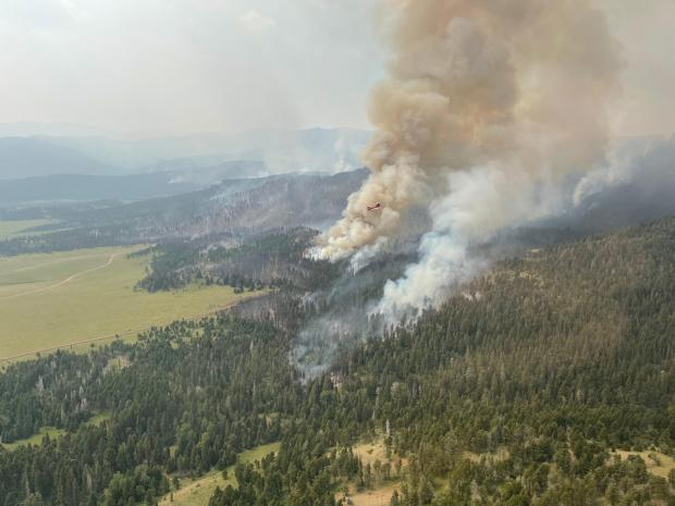 Aerial View of the American Fork Fire on the morning of July 18th