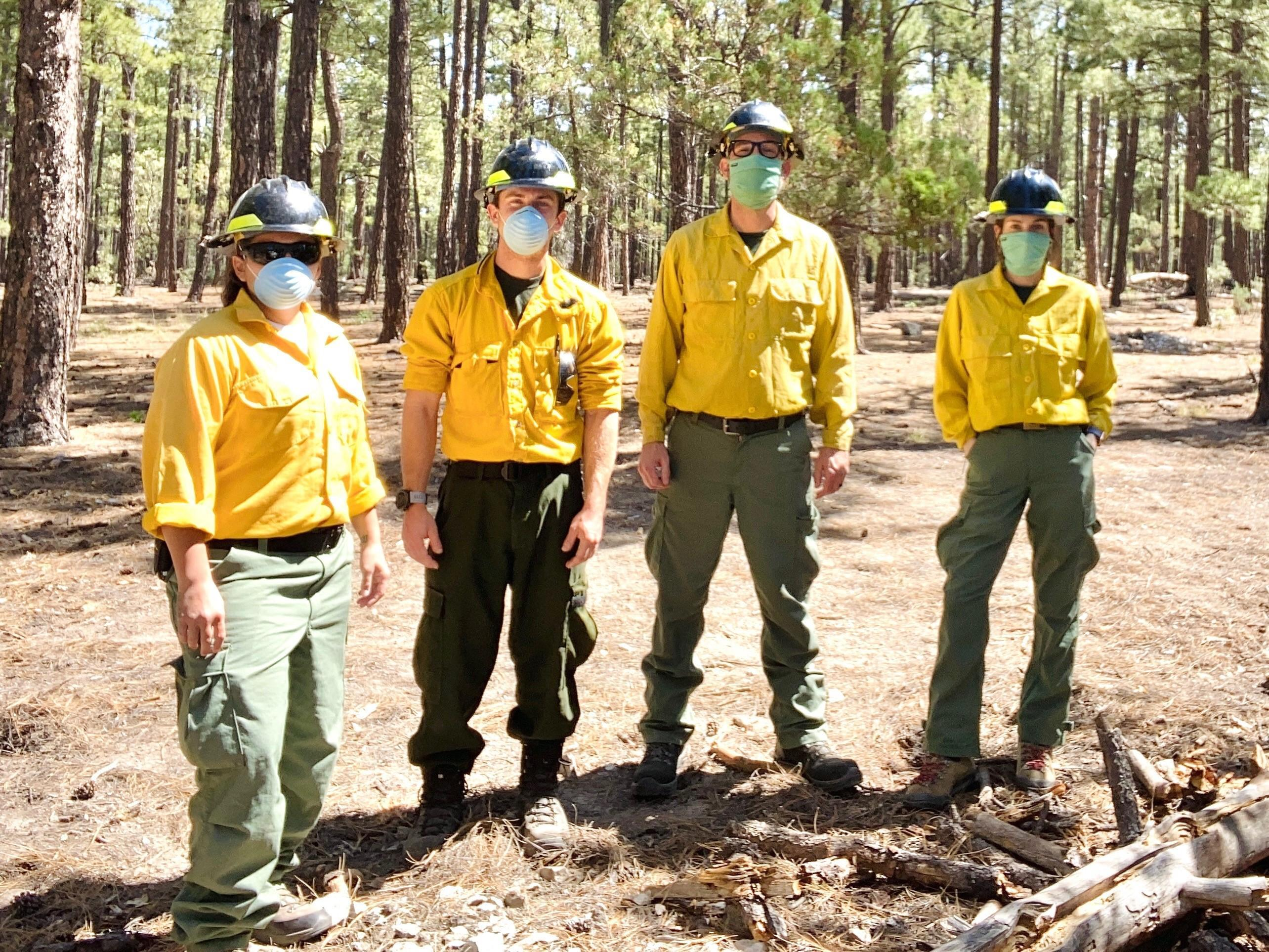 Image of Medics from Wilderness Medics inc. working on Tadpole Fire by Molly Barker