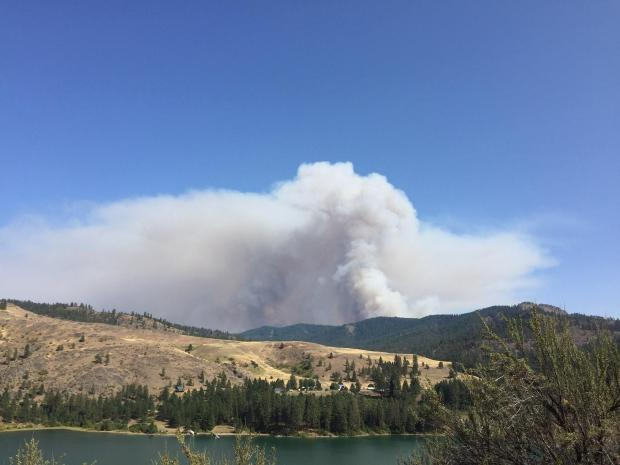 Williams Flats Fire on the afternoon of 8-3-2019