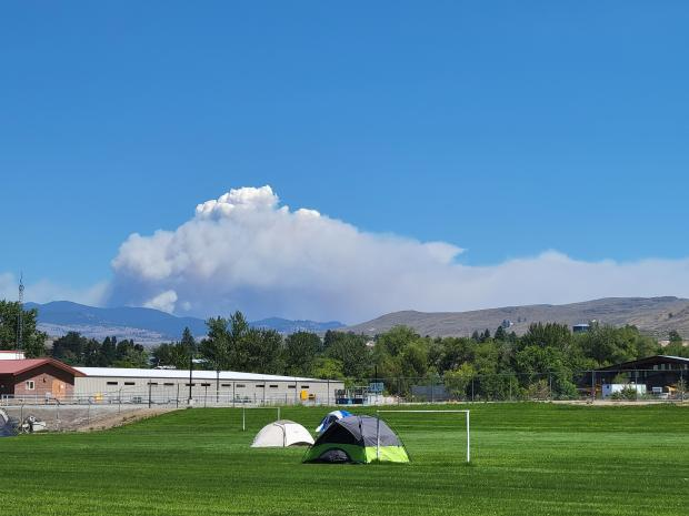 View of Spur Fire from Tonasket 8/11/21