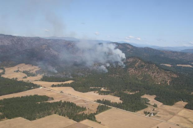 Aerial View of Ford Corkscrew Fire on 20210818