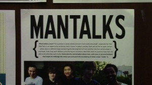 Men Talks is an event help at the Women's Resource Center where men can talk about their role in society.