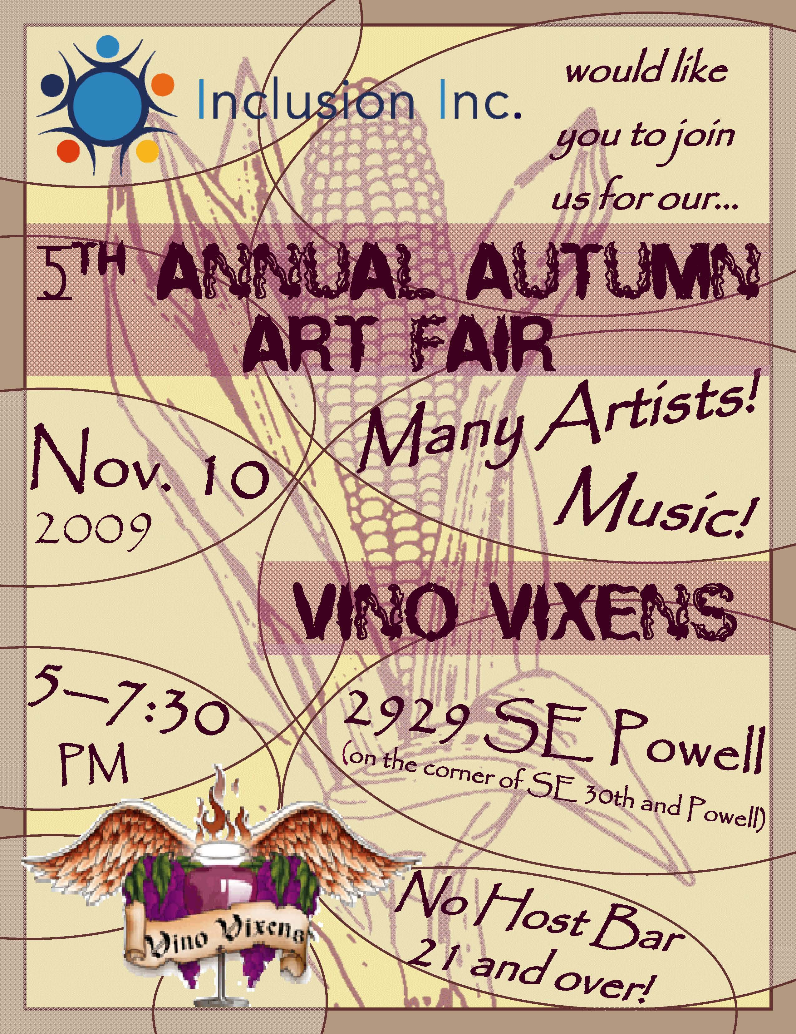 Please join us for our 5th annual Autumn Art Fair!