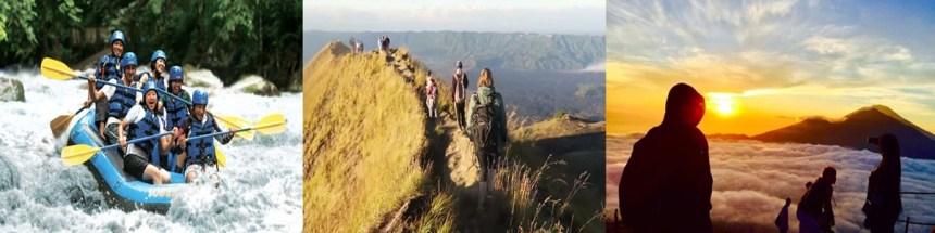 Bali Ayung Rafting and Mount Batur Trekking Tour
