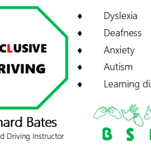 Inclusive Driving logo and business card