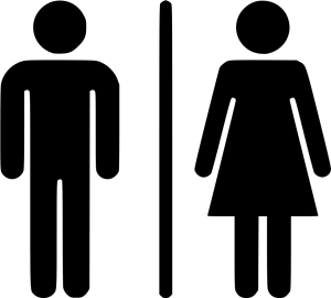 Male and Female icon in black