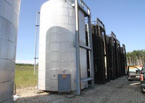 400BBL Aluminum Cladding insulated Heated tank