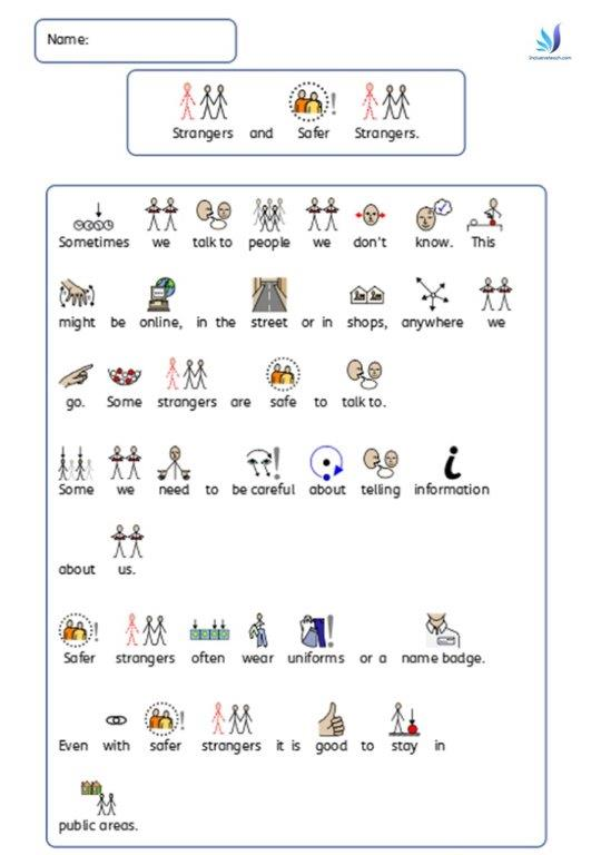 graphic about Free Printable Autism Worksheets identified as No cost Printable SEN Schooling Products - Geared up built components.