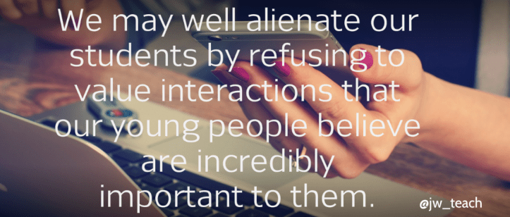 quote about online interactions SEN online safety