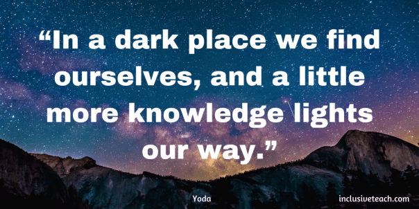 In a dark place we find ourselves, and a little more knowledge lights our way. Yoda Quote.png