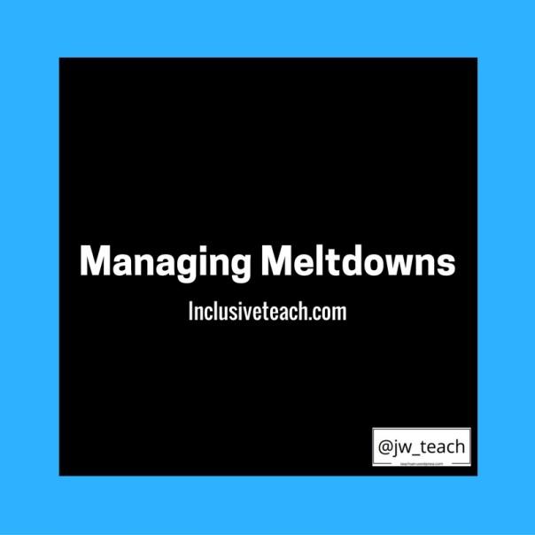 Managing Meltdowns Autism