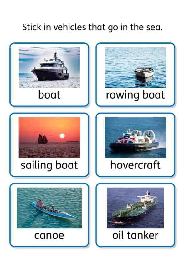 free transport topic SEN teaching resources