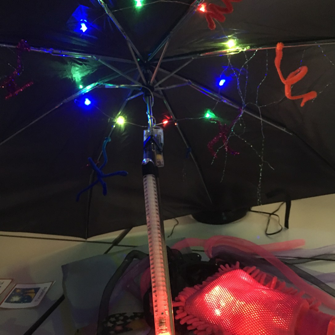 Fireworks sensory umbrella