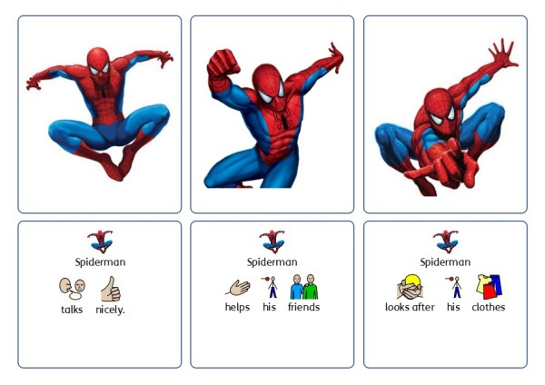 Hero cards social rules spiderman